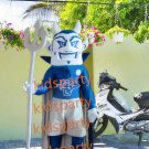New blue devil mascot costume fancy costume cosplay theme mascotte fancy dress carnival costume