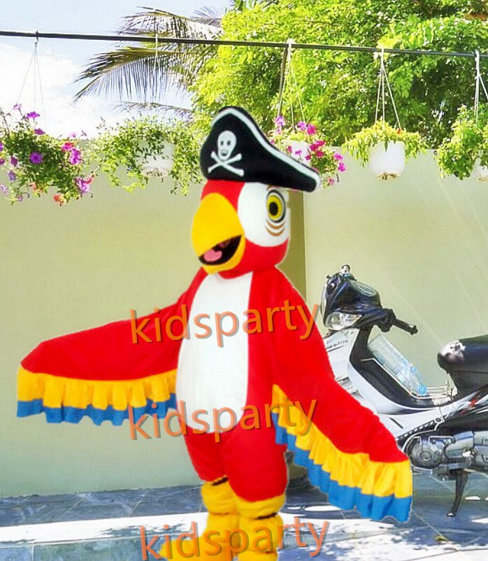 New pirate parrot Costume cartoon costumes advertising costume school mascot fancy dress