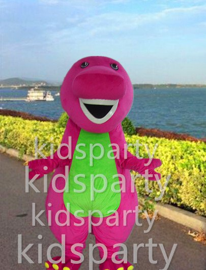 POLYFOAM high quality costume purple dinosaur mascot costume