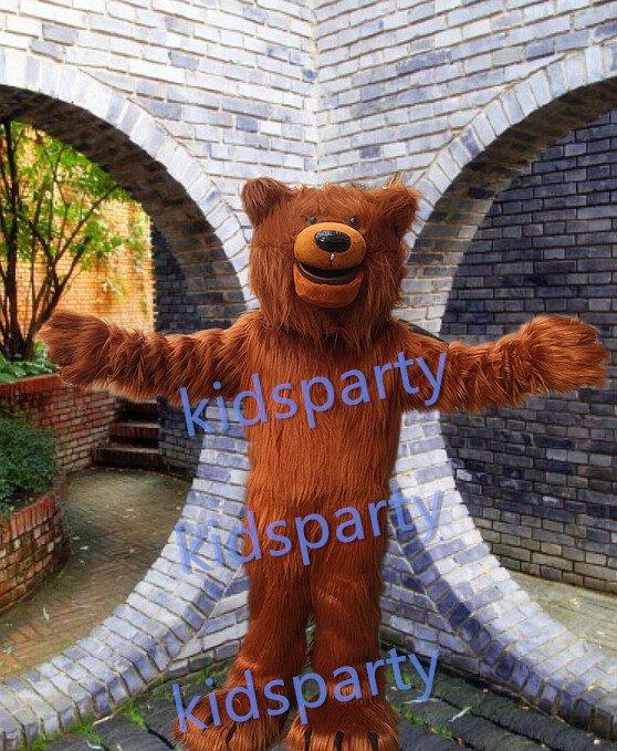 Big Grizzly Bear mascot costume fancy party dress suit carnival costume fursuit mascot
