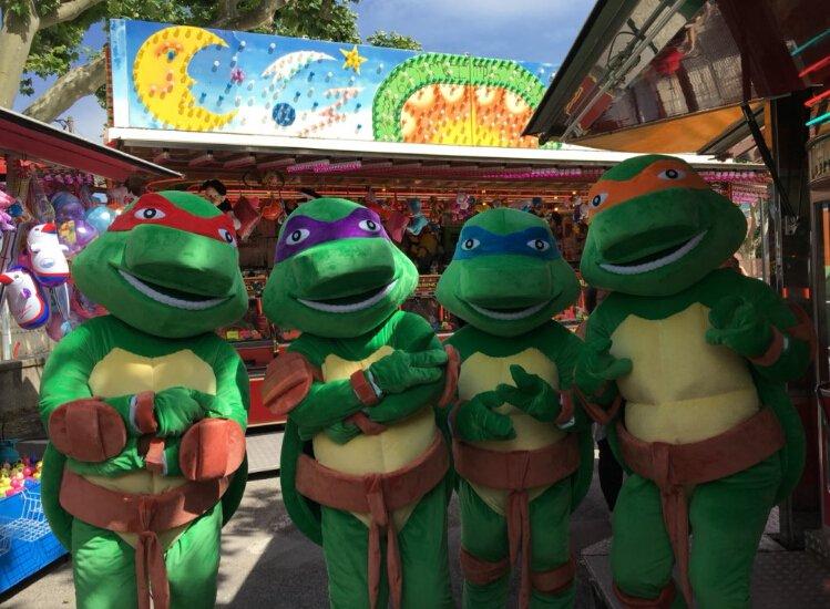 POLYFOAM Turtles adult size Cartoon Mascot Costume Fancy Dress Party Suit