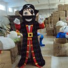 New Professinal Pirate Captain Mascot Costume Fancy Dress Adult Size