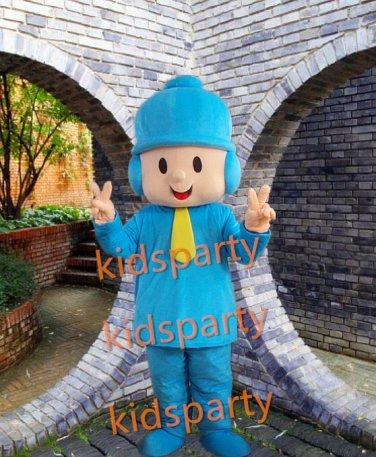 New Pocoyo mascot costume adult size Halloween costume fancy dress free shipping