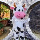 PROFESSIONAL FARM COW Mascot Costume cartoon Fancy Dress Free Shipping