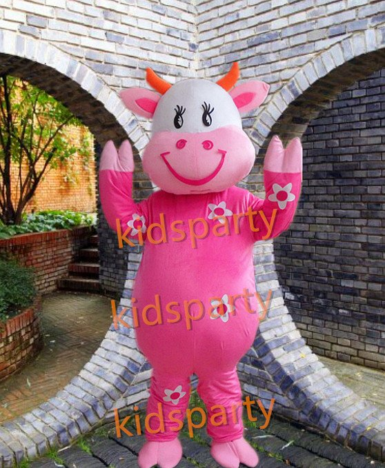 cattle of cows mascot costumes for adults christmas Halloween Outfit Fancy Dress Suit Free Shipping