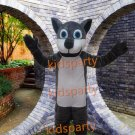 New Revised Version clear new gray wolf Halloween  Animal mascot costume