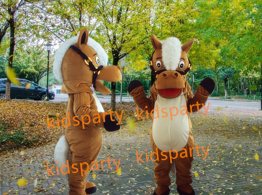 Professional Brown Horse mascot Costume WholeSale price mascot Cartoon Clothing