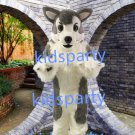 New high quality Grey Wolf mascot costume husky dog fursuit Free Shipping