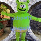 New green bear mascot costume Fancy Dress Halloween party costume Carnival Costume