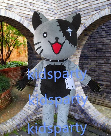 New grey cat mascot costume Fancy Dress Halloween party costume Carnival Costume