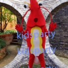 New red Shrimp mascot costume Fancy Dress Halloween party costume Carnival Costume