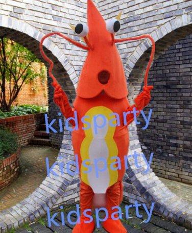 New Shrimp mascot costume Fancy Dress Halloween party costume Carnival Costume