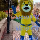New yellow super lion mascot costumes  fursuit christmas Halloween costume