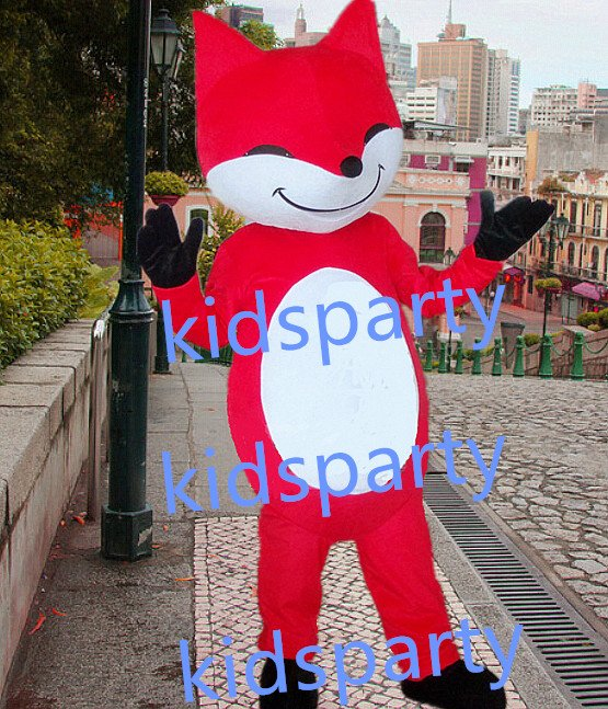 New red fox mascot costumes  fursuit christmas Halloween costume