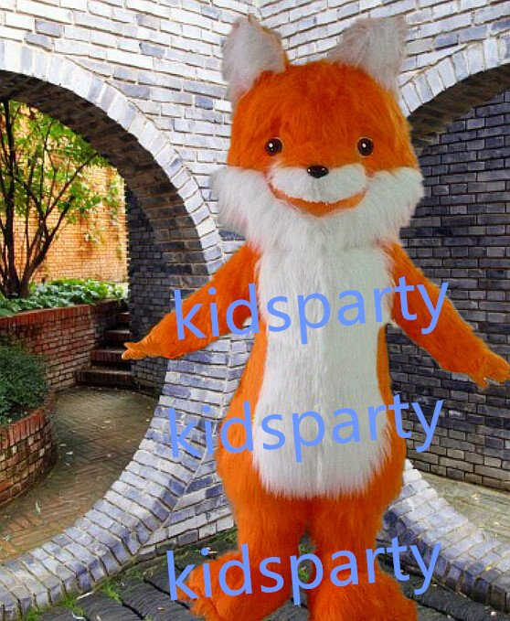 New orange fox Mascot Costume Mascot Parade Quality Clowns Birthdays Fancy dress party