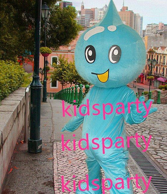New blue water drop mascot costumes  fursuit christmas Halloween costume