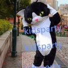 New black cat mascot costumes  fursuit christmas Halloween costume