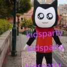 New red suit black cat mascot costumes  fursuit christmas Halloween costume