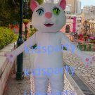 New white cat Mascot Costume Mascot Parade Quality Clowns Birthdays Fancy dress party