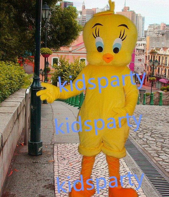 New yellow chicken bird Mascot Costume Mascot Parade Quality Clowns Birthdays Fancy dress party