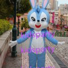 New blue rabbit Mascot Costume Mascot Parade Quality Clowns Birthdays Fancy dress party