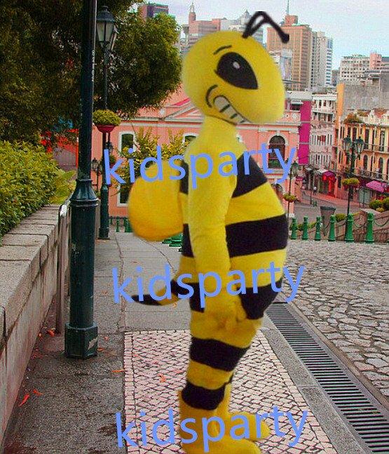 New bee honeybee Mascot Costume Mascot Parade Quality Clowns Birthdays Fancy dress party
