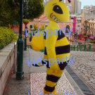 New bee honeybee Mascot Costume Mascot Parade Quality Clowns Birthdays Fancy dress party