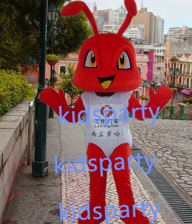 New red ant Mascot Costume Mascot Parade Quality Clowns Birthdays Fancy dress party