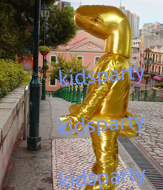 New Golden Snake Mascot Costume Mascot Parade Quality Clowns Birthdays Fancy dress party
