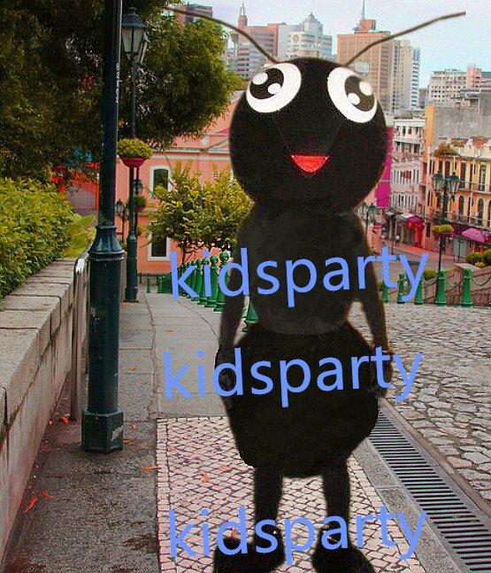 New black ant Mascot Costume Mascot Parade Quality Clowns Birthdays Fancy dress party