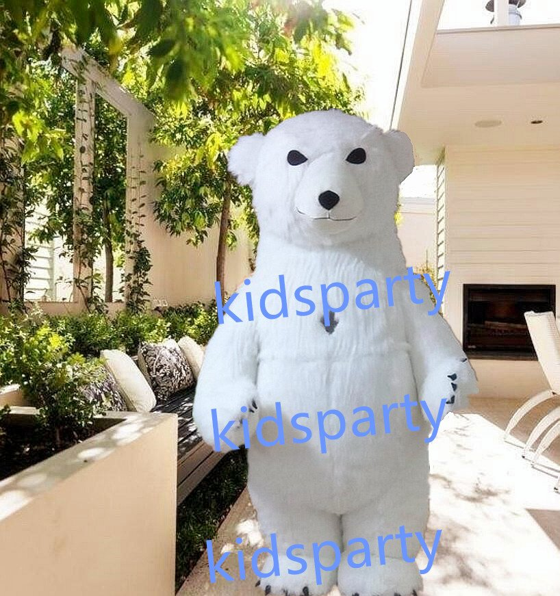 New polar bear Mascot Costume Mascot Parade Quality Clowns Birthdays Fancy dress party