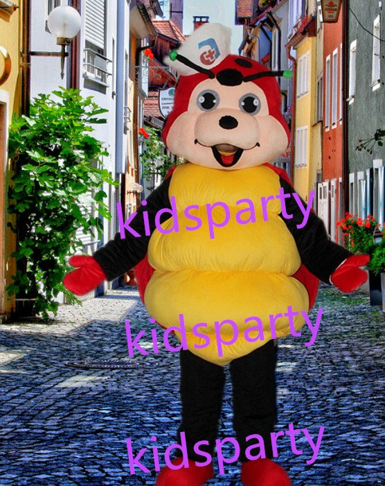 New Ladybug Ladybird Mascot Costume Mascot Parade Quality Clowns Birthdays Fancy dress party