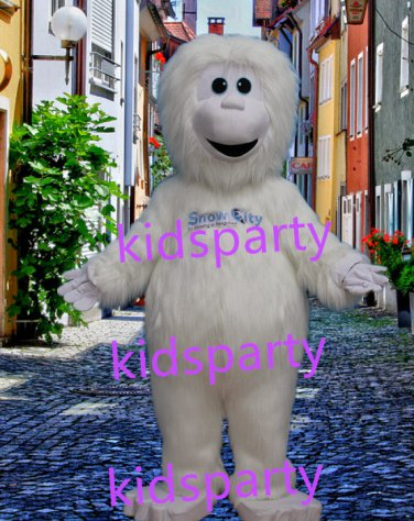 New white Gorilla Mascot Costume Mascot Parade Quality Clowns Birthdays Fancy dress party