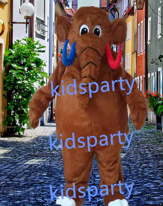 New Elephant Mascot Costume Mascot Parade Quality Clowns Birthdays Fancy dress party