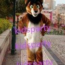New brown lion husky dog fursuit Mascot Costume mascot Halloween
