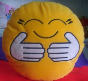 ROUNDED PILLOW HUG ME EMOTICON GIFT