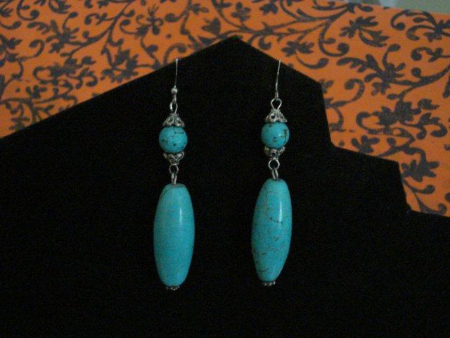 Handmade Tibetan beads and Turquoise Beads Earrings