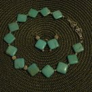 Handmade Genuine Turquoise Beads and Silver Accents and Clasp Set