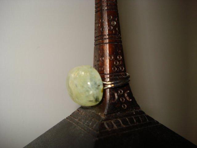 Handmade Natural Quartz Cabochon Stone Adjustable Ring