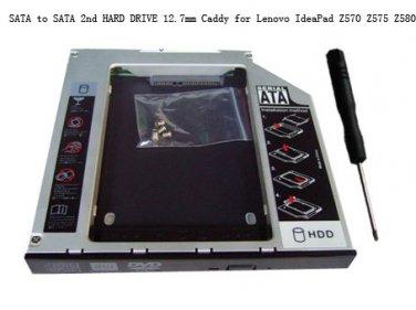 SATA to SATA 2nd HARD DRIVE 12.7mm Caddy for Lenovo IdeaPad Z570 Z575 Z580