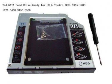 2nd SATA Hard Drive Caddy for DELL Vostro 1014 1015 1088 1220 3400 3450 3500