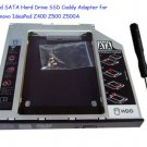 2nd SATA Hard Drive SSD Caddy Adapter for Lenovo IdeaPad Z400 Z500 Z500A