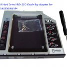 2nd SATA Hard Drive HDD SSD Caddy Bay Adapter for Dell XPS M1330 RW194