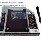 2nd SATA HDD SSD Hard Drive Caddy for ASUS X550 X550CA X550CC X550VC X550VB