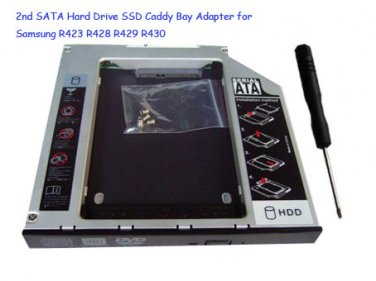 2nd SATA Hard Drive SSD Caddy Bay Adapter for Samsung R423 R428 R429 R430