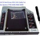 2nd SATA Hard Drive HDD SSD Caddy For Toshiba Qosmio F755 X305 X500 X505