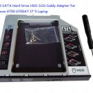 2nd SATA Hard Drive HDD SSD Caddy Adapter for Lenovo G700 G700AT 17'3 Laptop