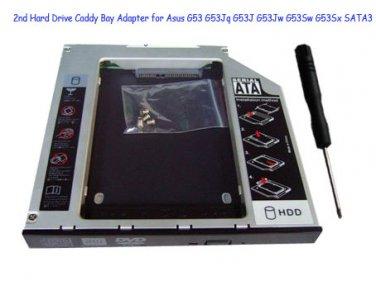 2nd Hard Drive Caddy Bay Adapter for Asus G53 G53Jq G53J G53Jw G53Sw G53Sx SATA3