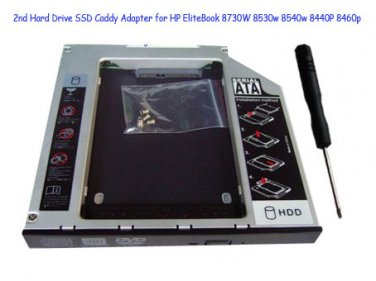 2nd Hard Drive SSD Caddy Adapter for HP EliteBook 8730W 8530w 8540w 8440P 8460p