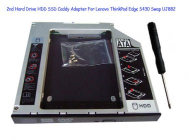 2nd Hard Drive HDD SSD Caddy Adapter For Lenovo ThinkPad Edge S430 Swap UJ8B2